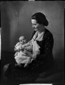 Countess D'Arcy with her son, by Bassano Ltd - NPG x151994