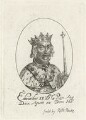 King Edward II, possibly by William Faithorne, published by  Robert Peake the Elder - NPG D23686A