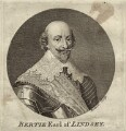 Robert Bertie, 1st Earl of Lindsey, by Louis Philippe Boitard, after  Cornelius Johnson - NPG D27034