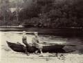 Sir John Everett Millais, 1st Bt and an unknown man, by Rupert Potter - NPG x131238