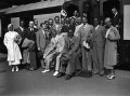 Jack Hylton meeting Duke Ellington and his band at Waterloo Station, by James Jarché, for  Daily Herald - NPG x88287