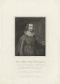 George Villiers, 1st Duke of Buckingham, by Charles Picart, after  Cornelius Johnson - NPG D32283