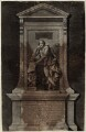 Memorial to William Shakespeare for poets' corner in Westminster Abbey, by Andrew Miller, after  Peter Scheemakers - NPG D27949