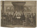 Charles II addressing the States General, the members all standing (King Charles II), by Theodor Matham, after  Jacob Toorenvliet - NPG D32321