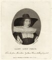 Lady Lucy Stanley (née Percy), by Andrew Birrell, published by  Silvester Harding, after  Isaac Oliver - NPG D28111