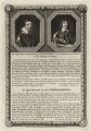 Thomas Wentworth, 1st Earl of Strafford and Spencer Compton, 2nd Earl of Northampton, by George Vertue, after  Sir Anthony van Dyck, and after  Cornelius Johnson - NPG D28207