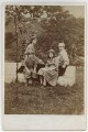 Margaret Mackail (née Burne-Jones); Jane Alice ('Jenny') Morris; May Morris; Sir Philip Burne-Jones, 2nd Bt, by Frederick Hollyer - NPG x19864