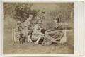 Margaret Mackail (née Burne-Jones); Sir Philip Burne-Jones, 2nd Bt; May Morris; Jane Alice ('Jenny') Morris, by Frederick Hollyer - NPG x19866