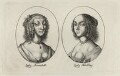Aletheia Talbot, Countess of Arundel and Elizabeth (née Stuart), Countess of Arundel and Surrey, possibly by Wenceslaus Hollar - NPG D28397
