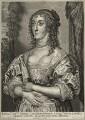 Katherine Stuart (née Howard), Lady Aubigny, Viscountess Newburgh, by Adriaen Lommelin, published by  Gillis Hendricx, after  Sir Anthony van Dyck - NPG D28428