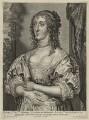 Katherine Stuart (née Howard), Lady Aubigny, Viscountess Newburgh, by Adriaen Lommelin, published by  Gillis Hendricx, after  Sir Anthony van Dyck - NPG D28437