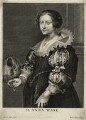 Anne Savile (née Wake), Countess of Sussex, by Peeter Clouwet, after  Sir Anthony van Dyck - NPG D28453