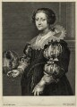 Anne Savile (née Wake), Countess of Sussex, by Peeter Clouwet, after  Sir Anthony van Dyck - NPG D28454