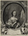 Anna Maria van Schurman, by Cornelis van Dalen the Younger, published by  Clemendt de Jonghe, after  Cornelius Johnson - NPG D28455