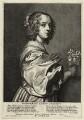 Margaret Lemon, by Wenceslaus Hollar, after  Sir Anthony van Dyck, published by  Hendrick van der Borcht the Elder - NPG D28463