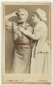 Hermann Vezin as Dan'l Druce; Marion Bessie Terry as Dorothy in 'Dan'l Druce, Blacksmith', by London Stereoscopic & Photographic Company - NPG Ax18193