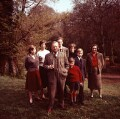Evelyn Waugh with his family, by Mark Gerson - NPG x88242