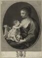 Mary (née Ruthven), Lady van Dyck, by Francesco Bartolozzi, after  Sir Anthony van Dyck, published by  John Boydell - NPG D28482
