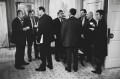 'Outside the Cabinet Room, 10 Downing Street' (sitters including Jack Straw, Gordon Brown), by Nick Danziger - NPG x131294