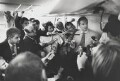 'Press Quarters of PM's Boeing 777 en route to Washington' (sitters including Tony Blair, Alastair Campbell), by Nick Danziger - NPG x131295