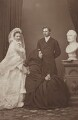 Queen Alexandra; Queen Victoria; King Edward VII, by John Jabez Edwin Mayall - NPG x36269