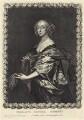 Penelope Herbert (née Naunton), Countess of Pembroke, by Pierre Lombart, after  Sir Anthony van Dyck - NPG D29175