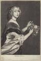 Cecilia Killigrew (née Crofts), by Wenceslaus Hollar, after  Sir Anthony van Dyck - NPG D29199