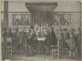Charles II addressing the States General, the members all standing (King Charles II), by Theodor Matham, after  Jacob Toorenvliet - NPG D29270