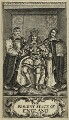 King Charles II; Gilbert Sheldon; Sir Orlando Bridgeman, 1st Bt, by William Faithorne - NPG D29288