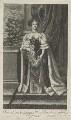Catherine of Braganza, by Edward Davis (Le Davis), after  John Baptist Gaspers (Jaspers), published by  Moses Pitt - NPG D29304