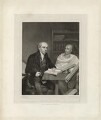 Professor Carey, of the College of Fort William, Calcutta, attended by his Pundit (William Carey; Mritunjaya), by William Henry Worthington, after  Robert Home - NPG D32619