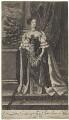Catherine of Braganza, by Edward Davis (Le Davis), after  John Baptist Gaspers (Jaspers), published by  Moses Pitt - NPG D32669