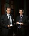Alastair John Campbell; Peter Benjamin Mandelson, Baron Mandelson, by Richard Ansett - NPG x131415