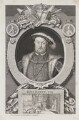 King Henry VIII, by George Vertue, after  Hans Holbein the Younger - NPG D32703
