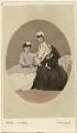 Princess Alice, Grand Duchess of Hesse; Queen Alexandra; Queen Victoria, by (Cornelius) Jabez Hughes - NPG Ax46783
