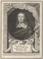 John Milton, by George Vertue, after  William Faithorne - NPG D30101