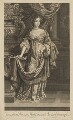Mary of Modena, by Peter Vanderbank (Vandrebanc), published by  Moses Pitt, after  Sir Peter Lely - NPG D32754