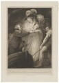Mary of Modena; Prince James Francis Edward Stuart ('Mary Queen of James II quitting the Kingdom'), by James Stow, published by  Robert Bowyer, after  John Opie - NPG D32755