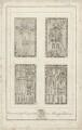 Gravestones of the Cawardens at Mavesyn Ridware, by Richard Woollett Basire, after  T. Barritt - NPG D32788