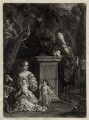Nicolas de Largillière; his wife and two children, by Isaac Beckett, published by  John Smith, after  Nicolas de Largillière - NPG D30418