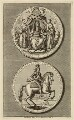 King George I portrayed on the Great Seal, by James Mynde, after  Unknown artist - NPG D32846