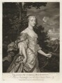 Frances Teresa Stuart, Duchess of Richmond and Lennox, by and published by Thomas Watson, published by  Walter Shropshire, after  Sir Peter Lely - NPG D30484