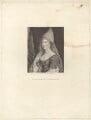 Barbara Palmer (née Villiers), Duchess of Cleveland, by Ignatius Joseph van den Berghe, published by  E. & S. Harding, after  Silvester Harding - NPG D30503