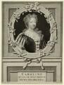 Caroline Wilhelmina of Brandenburg-Ansbach, by M. Marrebeeck, published by  Sir Godfrey Kneller, Bt, after  Pieter Stevens van Gunst - NPG D32893