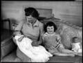 Viscountess Kemsley with Jane and Mary, by Bassano Ltd - NPG x153104