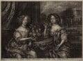 Lady Anne Barrington (née Rich) and Lady Mary St John (née Rich), after Henri Gascar - NPG D30569