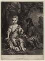 Elizabeth Cooper, by William Faithorne Jr, after  Sir Peter Lely, published by  Edward Cooper - NPG D30643