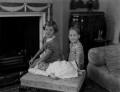 Sarah Henderson; Charles Michael Henderson, 3rd Baron Faringdon; James Henderson;, by Bassano Ltd - NPG x153224