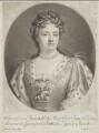 Queen Anne, by John Smith, after  Sir Godfrey Kneller, Bt - NPG D9230