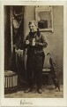 (Thomas) Frederick Robson (né Brownbill) as Pawkins in 'Retained for the Defence', after Camille Silvy - NPG x22083